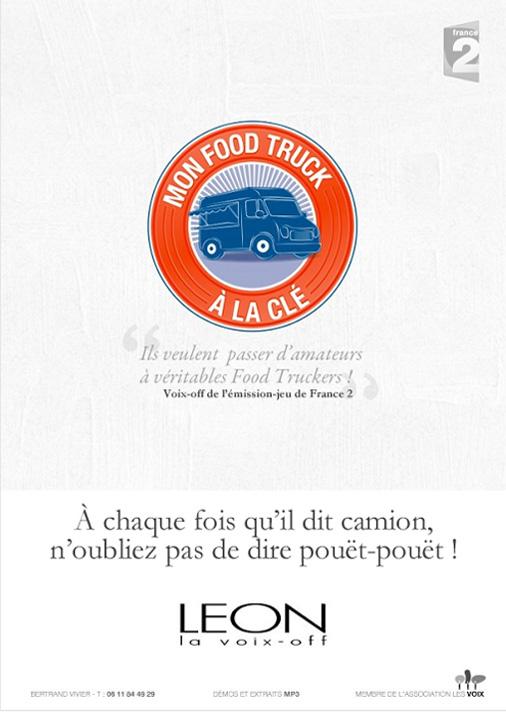 Leon voix off - comédien - narration de l'émission France 2 - Mon Food Truck à la clé